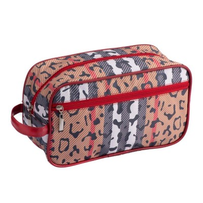 Cosmetic Case Large | Black and Red | Catwalk