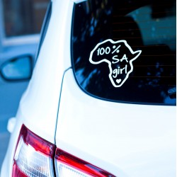 Car Sticker | 100% SA GIRL