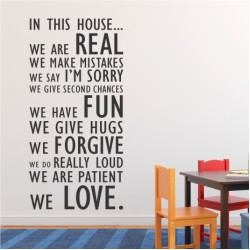In this house  | Wall Decal