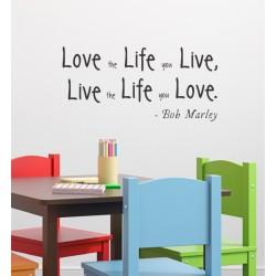Live the Life You Love  VINYL STICKER