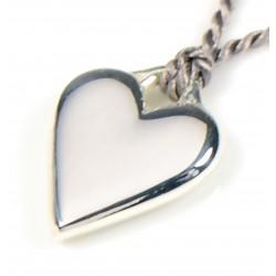 HEART on Grey Silk