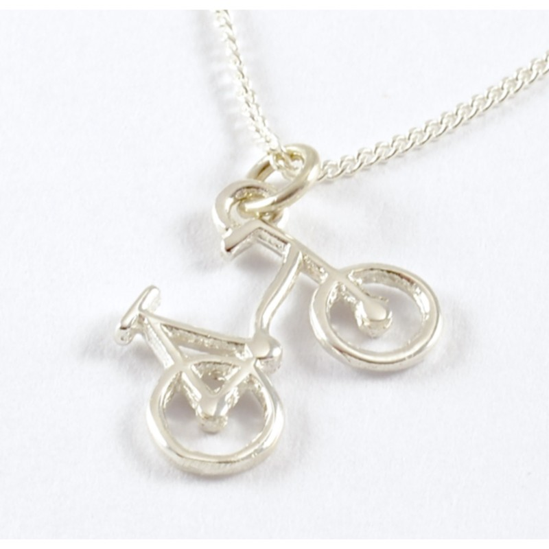 Bicycle on Silver Chain