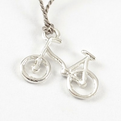 Bicycle on Grey Silk