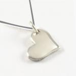 Sideways Heart | on Silk Necklace