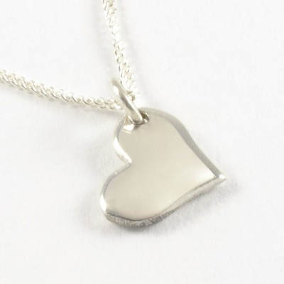 Sideways Heart | Silver Chain