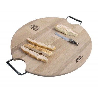 Round Cheese Board with Double Iron Handle