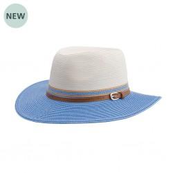 Bella Hat | Ivory Blue