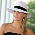 Safari Hat | White with Black Band