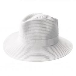 Safari Hat | White with White Band