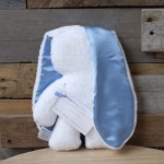 White Snuggle Bunny | Blue Ears