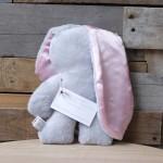 GREY Snuggle Bunny | Pink Ears