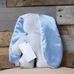 GREY Snuggle Bunny | Blue Ears