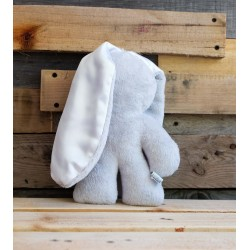 Grey Snuggle Bunny | White Ears