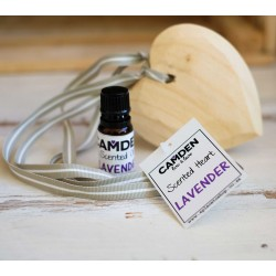 Lavender Heart + Oil | Scented Wooden Heart and a Top Up Scented Oil