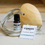 Lemongrass Heart + Oil | Scented Wooden Heart and a Top Up Scented Oil