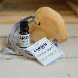 Lily Mist Heart + Oil | Scented Wooden Heart and a Top Up Scented Oil