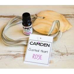 Rose Heart + Oil | Scented Wooden Heart and a Top Up Scented Oil