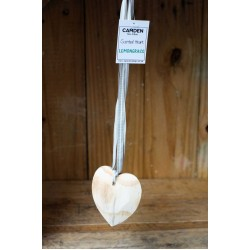 Scented Wooden Heart on Ribbon (no oil included)