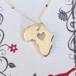 Large Africa Pendant on 45cm Chain| Sterling Silver