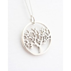 Large Circle of Life Pendant on 45cm chain| Sterling Silver