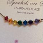 Chakra Beads on Grey Silk | Necklace