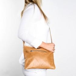 Mini Messenger Handbag   Hazelnut
