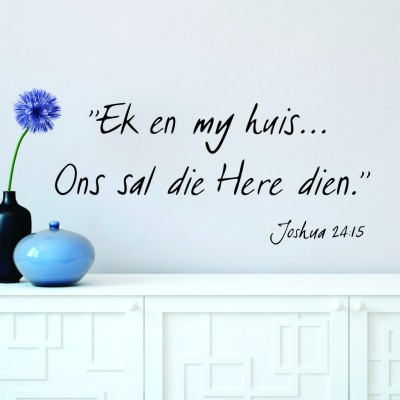 Ek en my huis | Wall Decal