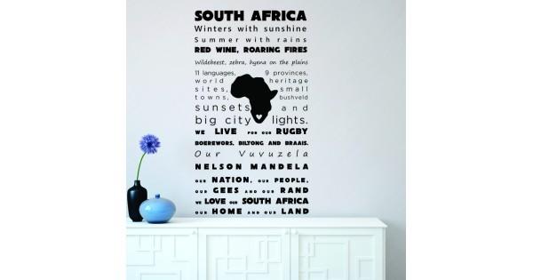South Africa Vinyl Wall Sticker Decal