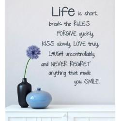 Life is Short | VINYL STICKER