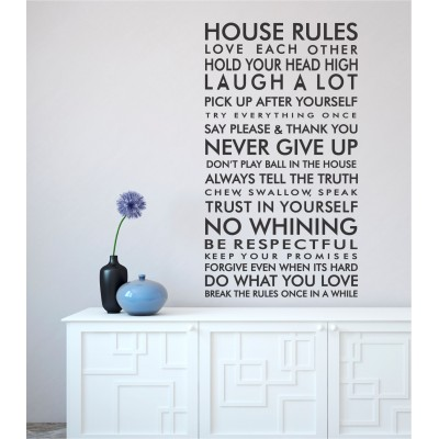 House Rules | Wall Decal